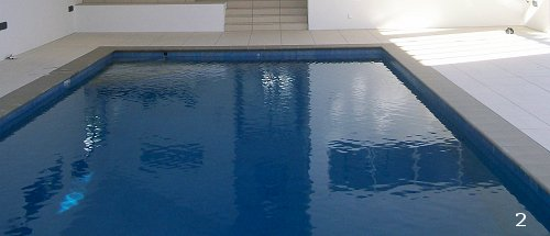 Beadcrete concrete pool